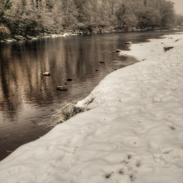 """The River Tees"" stock image"