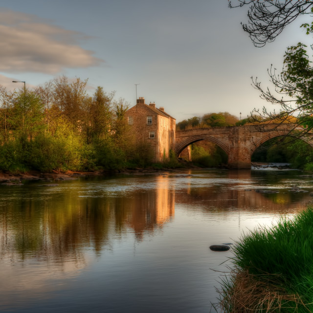 """""""The River Tees"""" stock image"""