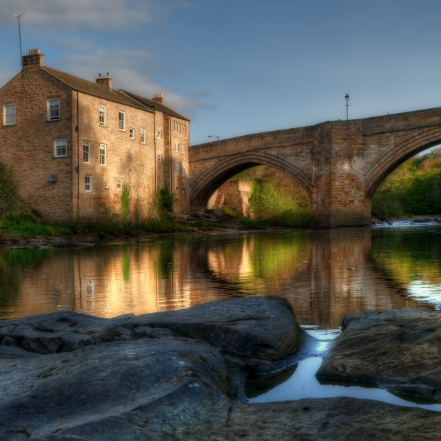 """County Bridge, Barnard Castle"" stock image"