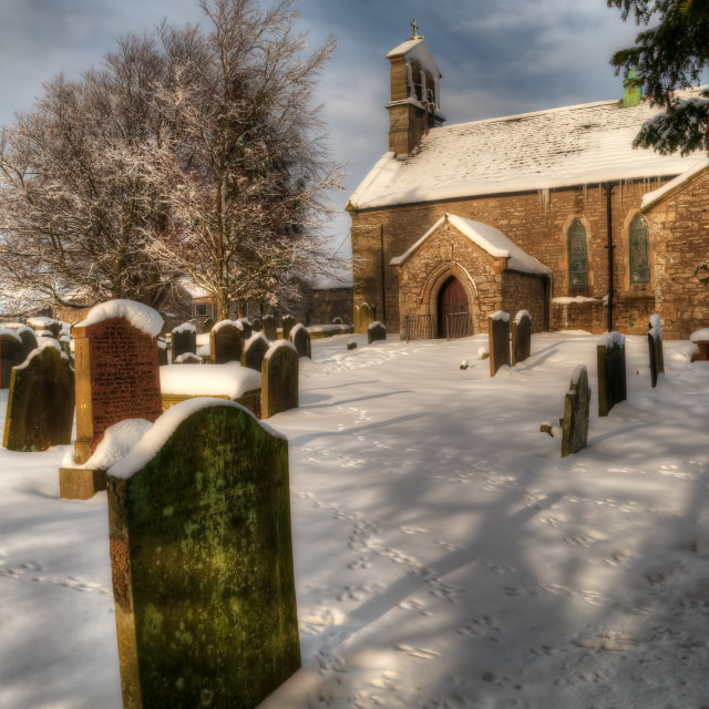 """""""St Giles Church, Bowes"""" stock image"""