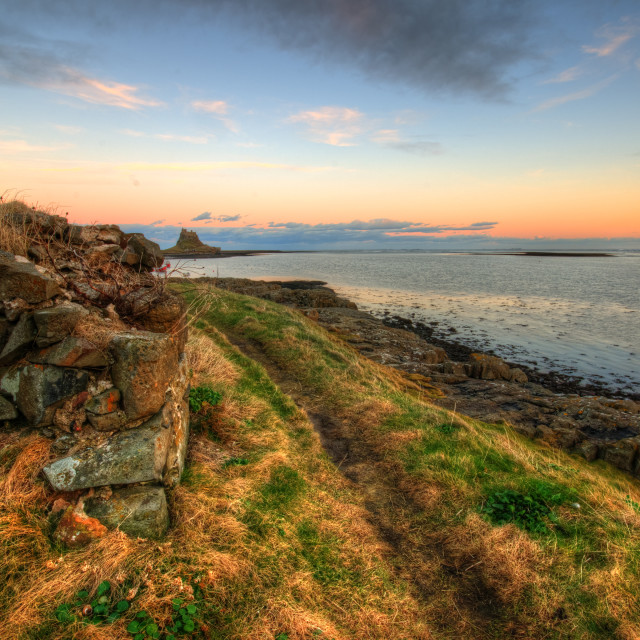"""Lindisfarne Castle Views"" stock image"