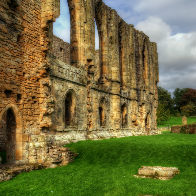 """Easby Abbey"" stock image"