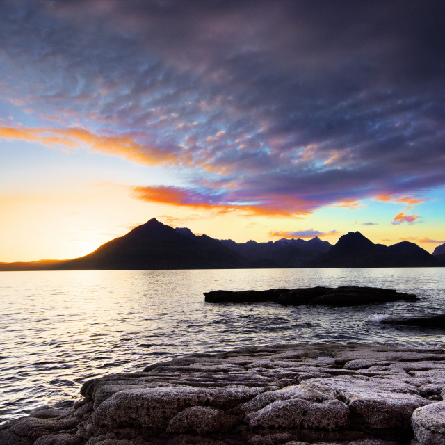 """Cuillins Sunset"" stock image"