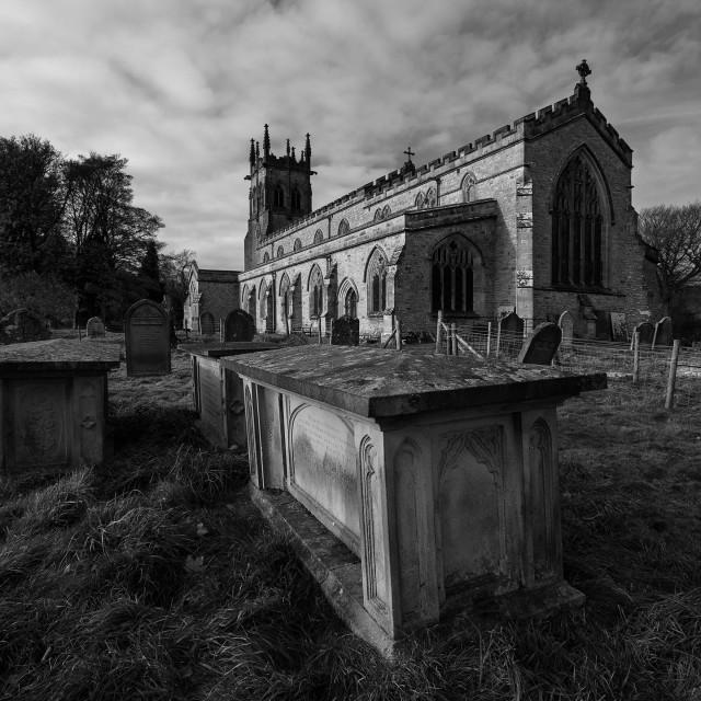 """St Andrews Parish Church, Aysgarth"" stock image"
