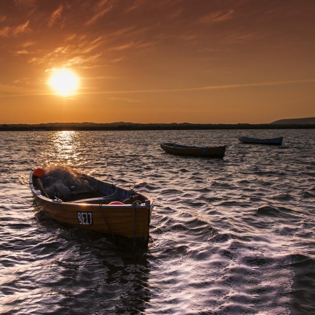 """Salmon Boat"" stock image"