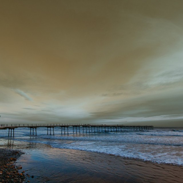 """""""Saltburn by the Sea"""" stock image"""