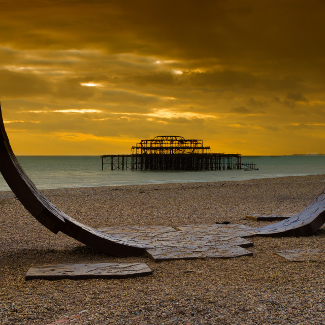 """The West Pier"" stock image"