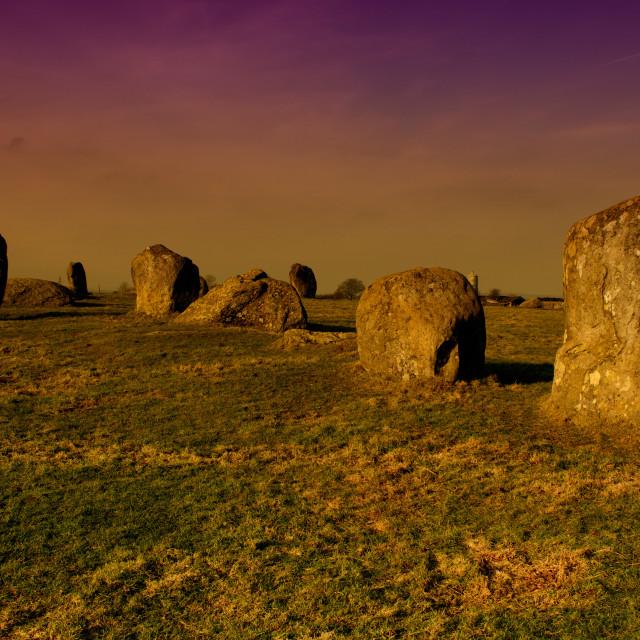 """Long Meg Stone Circle"" stock image"