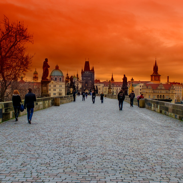 """Charles Bridge"" stock image"
