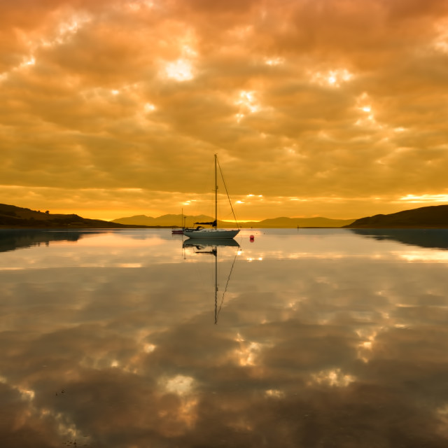 """Campbeltown Sunrise"" stock image"