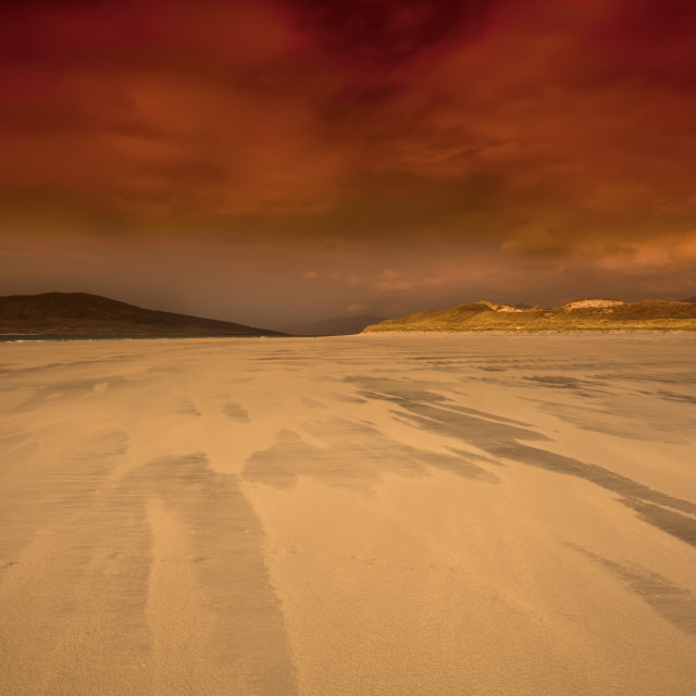 """Luskentyre, Isle of Harris"" stock image"