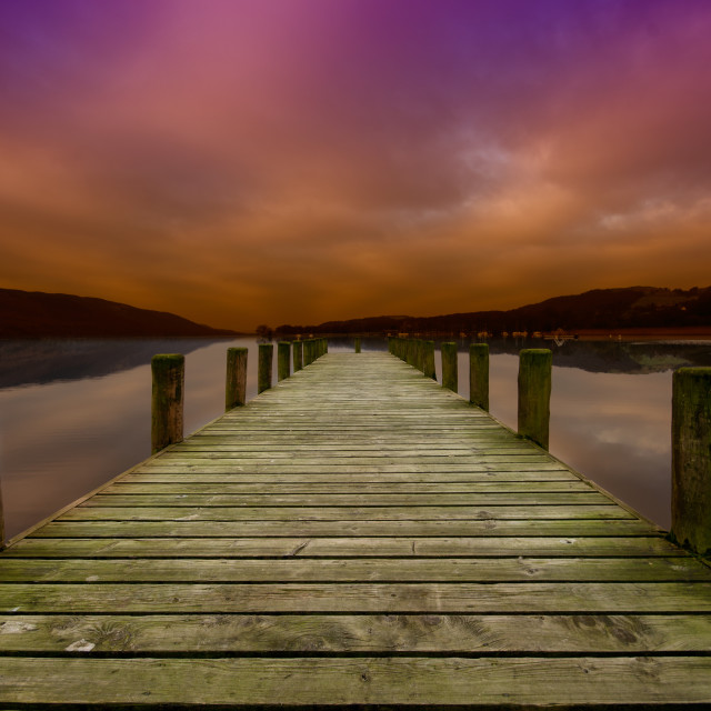 """Coniston Water"" stock image"