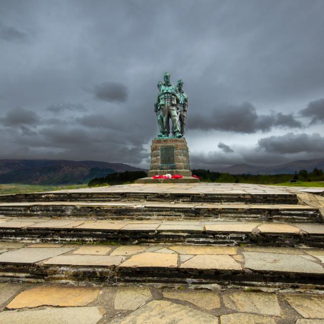 """Commando Monument"" stock image"