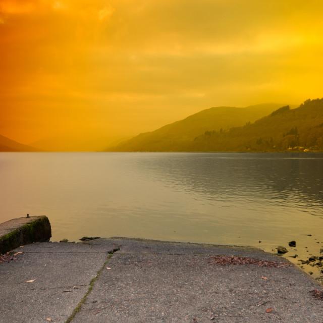 """""""Loch Earn"""" stock image"""