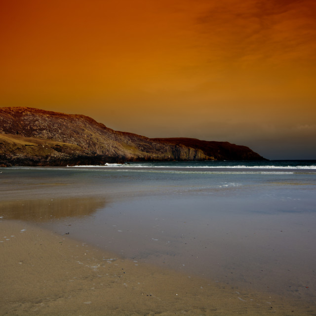 """Valtos Beach, Isle of Lewis"" stock image"