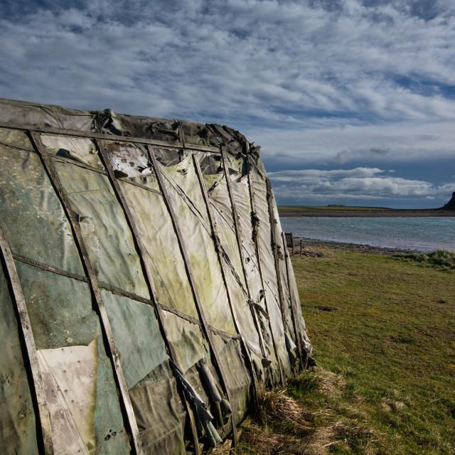 """Holy Island - Lindisfarne"" stock image"