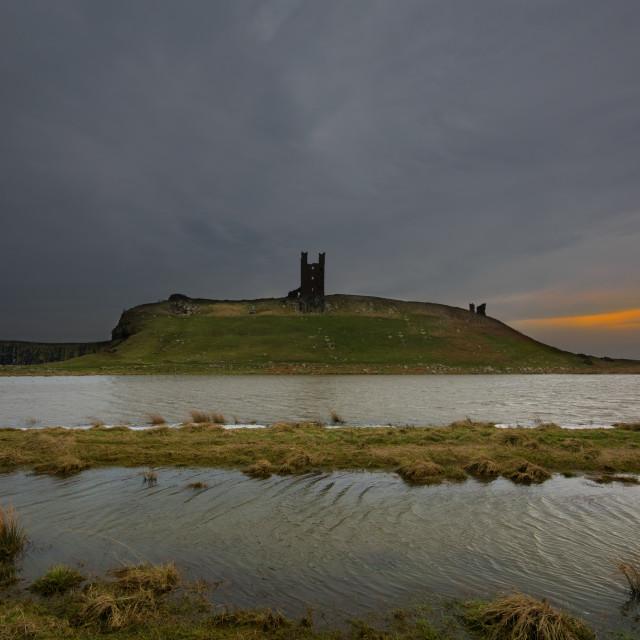 """""""Dunstanburgh Castle"""" stock image"""