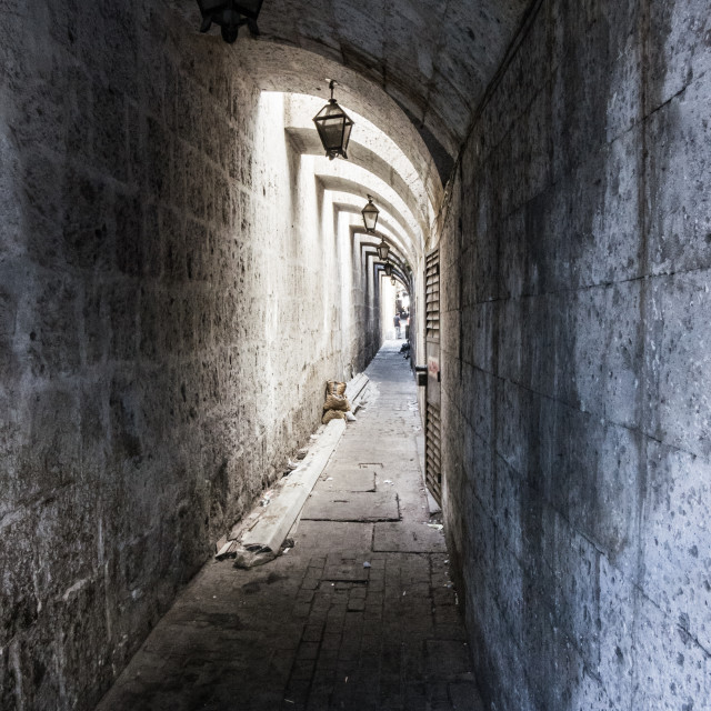 """""""Arequipa alleyway"""" stock image"""