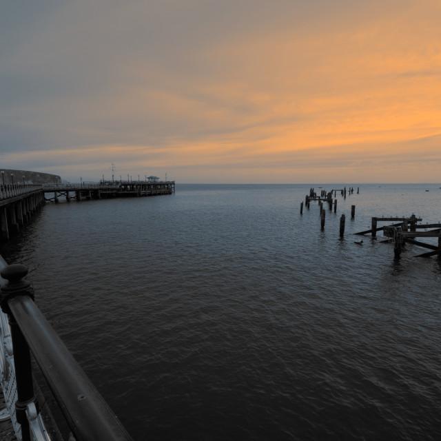 """Swanage Pier"" stock image"