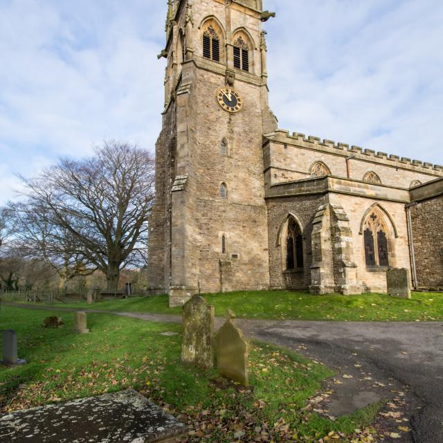 """St Andrews Church, Aysgarth"" stock image"