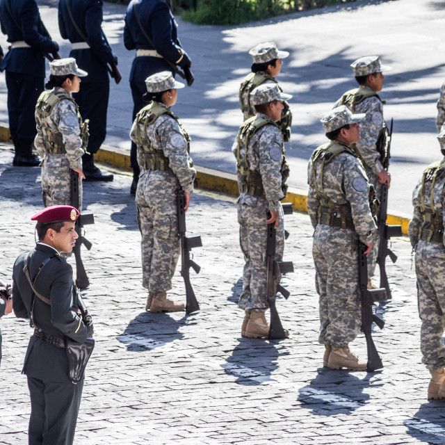 """Parade in Arequipa, Peru"" stock image"
