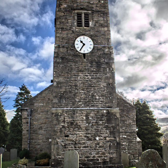 """St Mary's Church, Muker"" stock image"