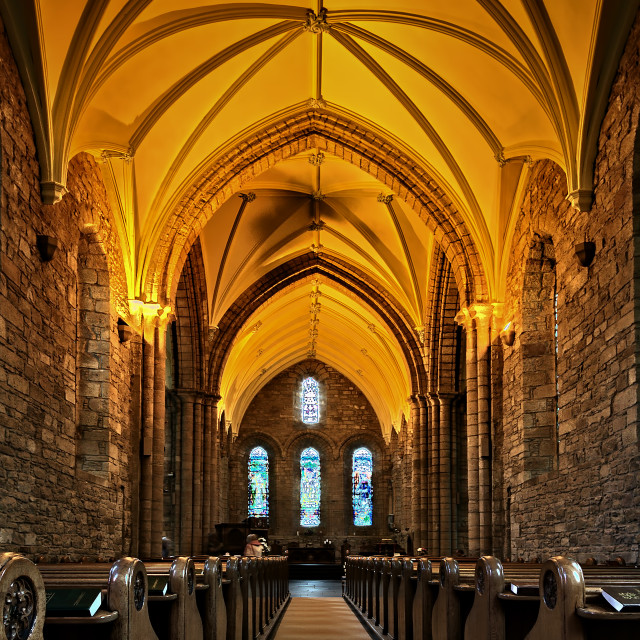 """Dornoch Cathedral"" stock image"
