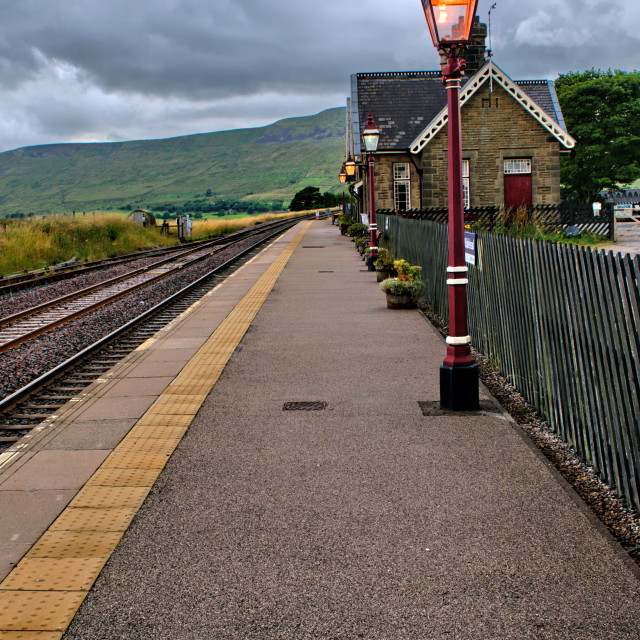 """Ribblehead Station"" stock image"