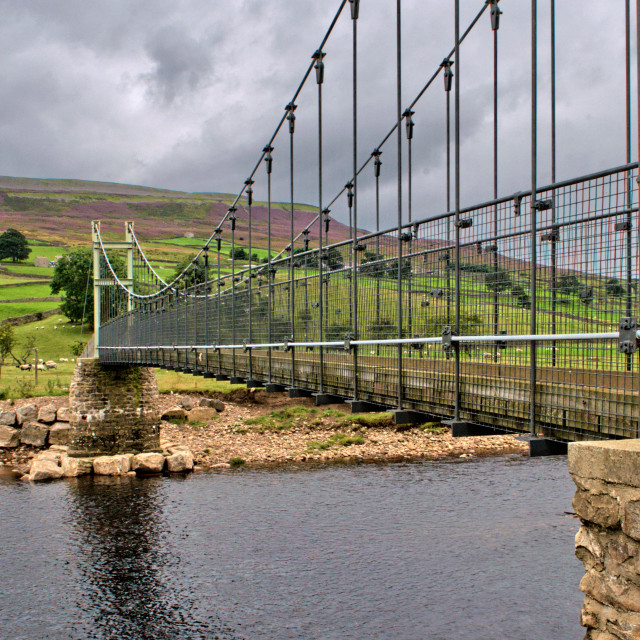 """Reeth Swing Bridge"" stock image"