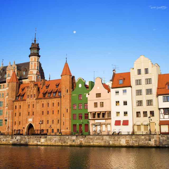 """""""Old Town in Gdansk"""" stock image"""