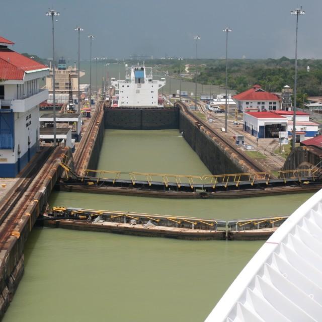"""Panama Canal locks"" stock image"