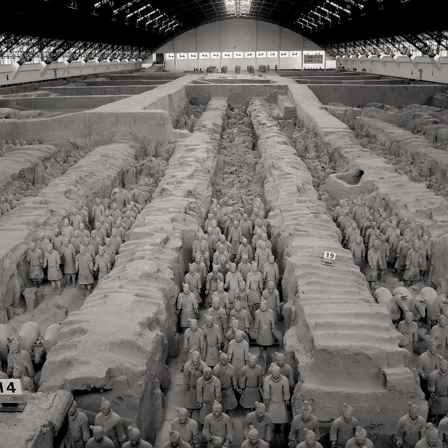 """""""Museum of the Terra-cotta Warriors and Horses, Xi'an, China"""" stock image"""
