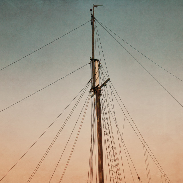 """The Albatros Boat Masts"" stock image"