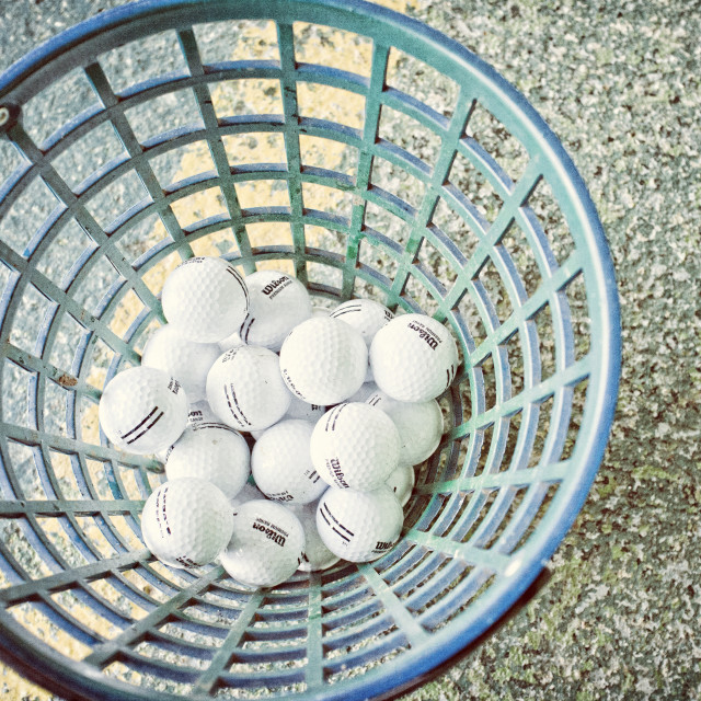 """A bucket of balls"" stock image"