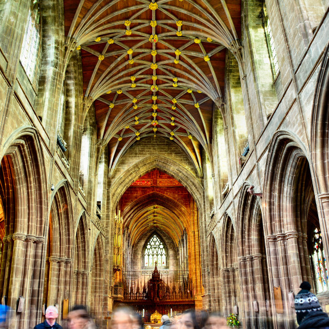 """Chester Cathedral"" stock image"
