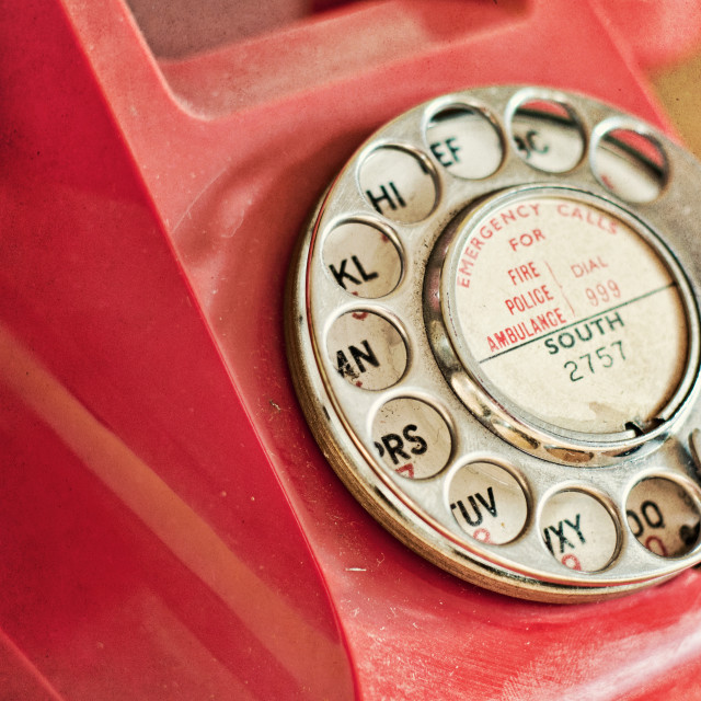 """Vintage Telephone Detail"" stock image"