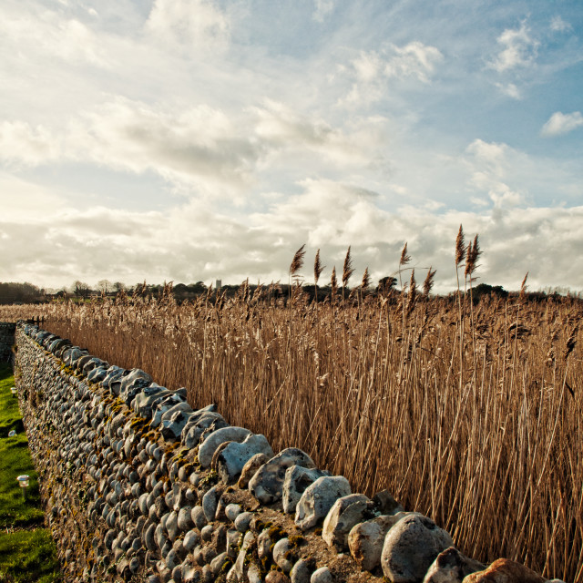 """""""Cley Next the Sea"""" stock image"""