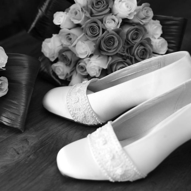 """Wedding shoes"" stock image"
