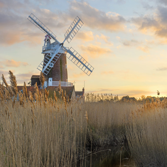 """Cley Windmill"" stock image"