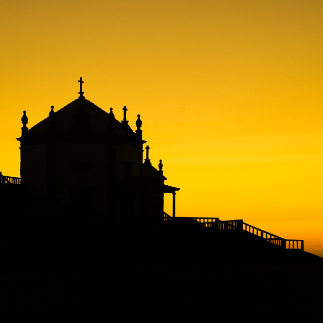 """Sunset chapel"" stock image"