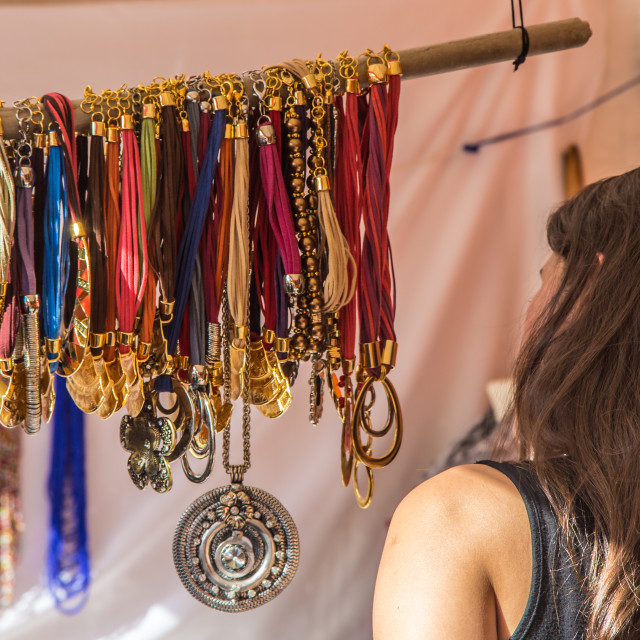 """""""The Jewellery Stall"""" stock image"""