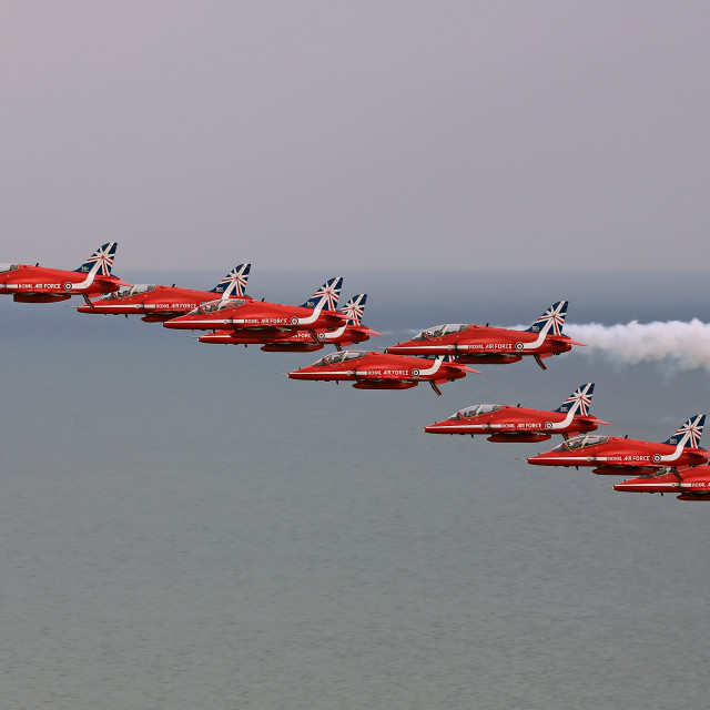 """Eastbourne Red Arrows"" stock image"