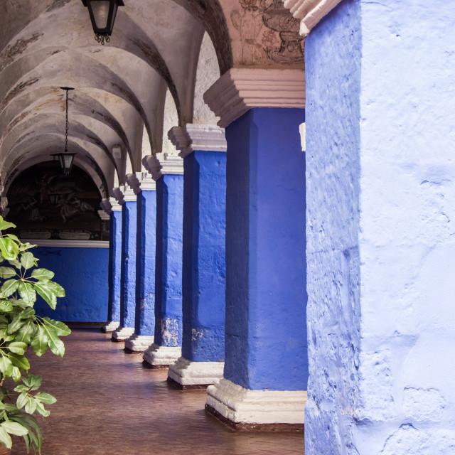 """""""Santa Catalina Colonnade"""" stock image"""