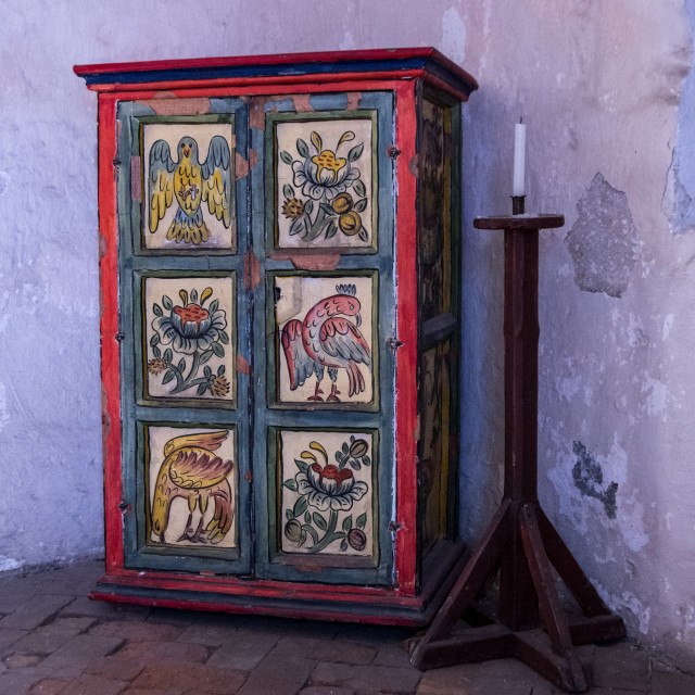 """""""Painted cupboard"""" stock image"""
