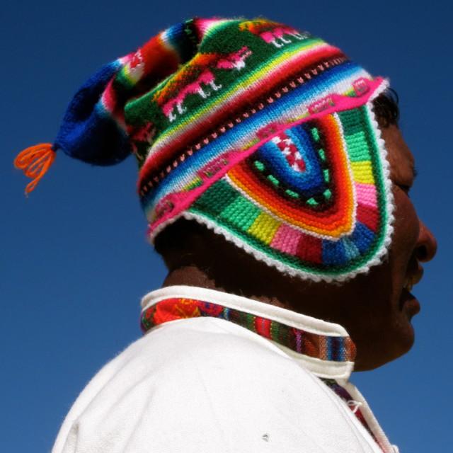 """Peruvian man"" stock image"