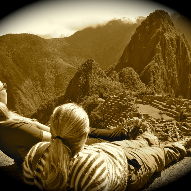 """Overlooking Machu Picchu"" stock image"