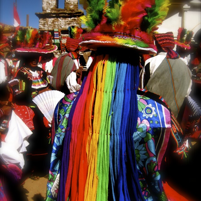 """Celebrations, Taquile Island, Peru"" stock image"