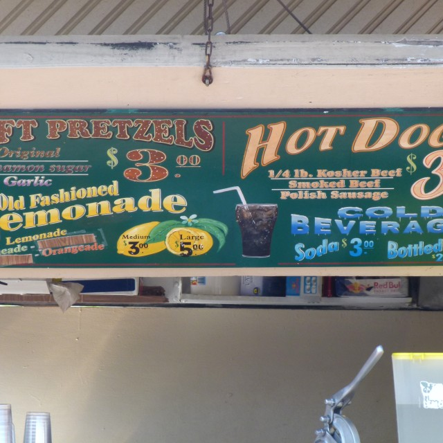 """Lemonade & hot dogs"" stock image"