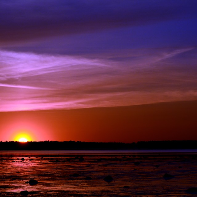 """Sunset Sonata"" stock image"
