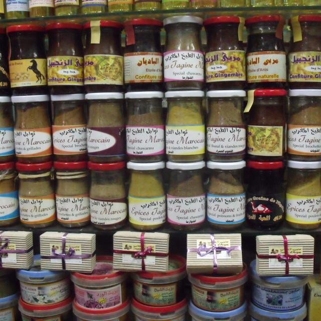 """Spice Jars Marrakesh"" stock image"